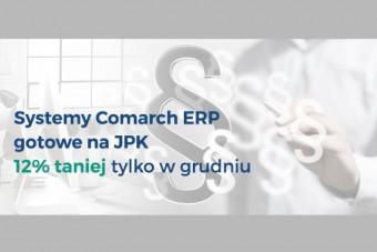 Grudniowa promocja na systemy Comarch – bądź gotowy na JPK