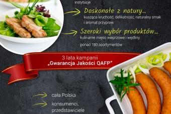 Kampania promująca kulinarne mięso wieprzowe i wędliny ze znakiem jakości QAFP dobiegła końca