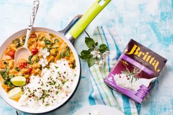 Curry z kurczakiem, szpinakiem i ryżem jaśminowym marki Britta