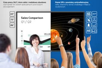 Nowe ekrany wielkoformatowe iiyama dla edukacji i biznesu