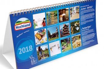 Kalendarze firmowe Hochland Polska 2018!