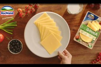 Start kampanii reklamowej nowych plastrów serów żółtych Hochland!