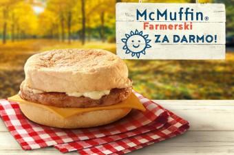 McDonald's zaprasza na śniadanie. McMuffin Farmerski zupełnie za darmo!