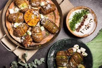 Ziemniaki hasselbak z olejem Rapso i tymiankiem
