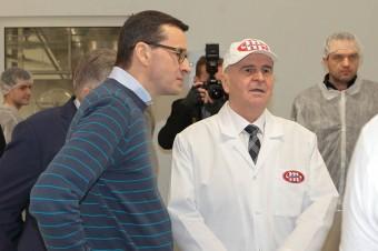Premier Mateusz Morawiecki z wizytą w Centrali Grupy MLEKOVITA