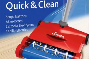 Nowość! Quick & Clean – szczotka elektryczna nowej generacji marki Vileda. Szybkie, lekkie i łatwe porządki.