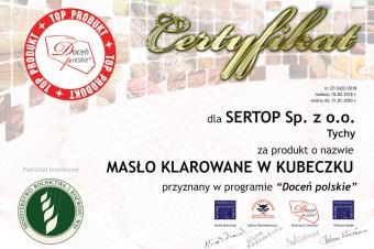 """SERTOP Sp. z o.o. laureatem programu """"Doceń polskie"""""""