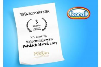 Koral najcenniejszą polską marką lodów