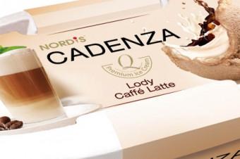 """""""CAFFÉ LATTE"""" – lody kawowe i śmietankowe posypane kawą mieloną"""