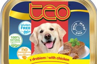 Nowy produkt w linii karm dla psów TEO® szalka z drobiem 300 g