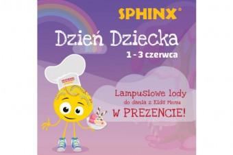 """""""Lampusiowe Lody"""" dla dzieci w restauracjach Sphinx"""