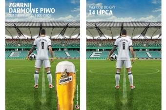 Piwo Królewskie 3.2% na stadionie Legii Warszawa