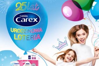 Świętuj 25-lecie marki Carex i weź udział  w wyjątkowej Urodzinowej Loterii marki!
