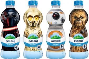 Bohaterowie Gwiezdnych Wojen na etykietach produktów Żywiec Zdrój® dla dzieci