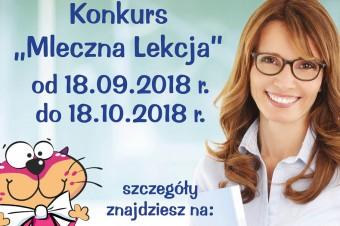 """Weź udział w konkursie """"Mleczna lekcja"""" i wygraj odwiedziny kota Mleczysława dla swojej klasy"""