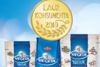 Vegeta uhonorowana złotym godłem Laur Konsumenta 2019