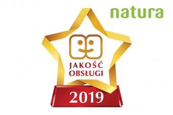 Drogerie Natura z tytułem Gwiazda Jakości Obsługi 2019