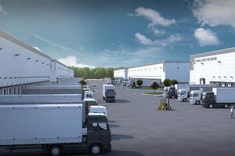 Budowa pierwszej hali Waimea Logistic Park Stargard realizowana zgodnie z planem