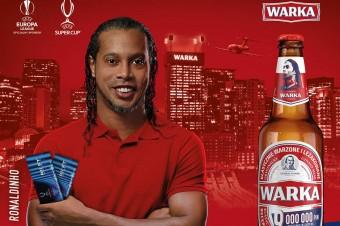Ronaldinho w nowej kampanii piwa Warka