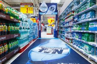 Rebranding marki Nałęczowianka zrealizowany w sieci Carrefour  przez in-Store Media Polska