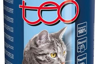 Pełnoporcjowa karma mokra TEO® dla dorosłych kotów, bogata w rybę bałtycką