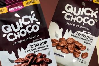 Moreso wprowadza Quick Choco – pestki dyni w czekoladzie