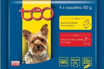 TEO® Pełnoporcjowa karma mokra w sosie dla dorosłych psów
