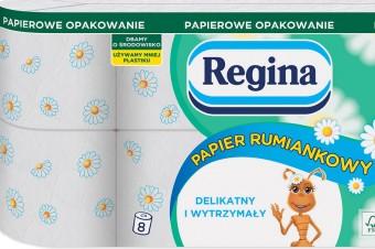 Regina Papier Rumiankowy w nowym opakowaniu – z papieru