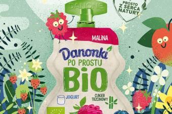 Najnowsze Danonki BIO o smakach maliny i gruszki
