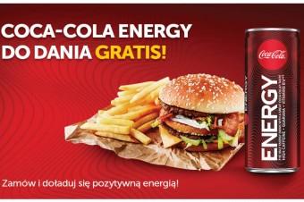 Coca-Cola Energy gratis do dań na PizzaPortal.pl