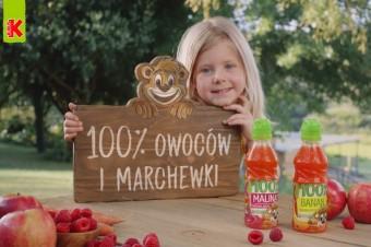 Kubuś prezentuje swoje soki: 100% owoców i marchewki