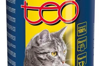 Pełnoporcjowa karma mokra TEO® dla dorosłych kotów, bogata w drób