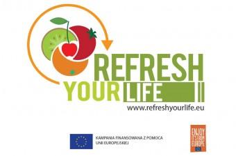 REFRESH YOUR LIFE! Projekt promujący europejskie owoce.