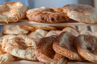 Gruzińskie puri, grecka pita i włoska piada, czyli wytrawne wypieki z różnych stron świata