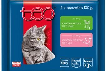 TEO® Pełnoporcjowa karma mokra w sosie dla dorosłych kotów