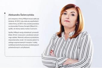 Rozmowa z Aleksandrą Świerczyńską, Prezesem Zarządu Milkpol S.A.