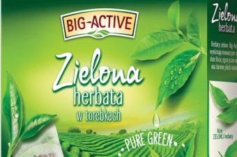 Zielone herbaty ekspresowe od Big-Active w nowych, odświeżonych opakowaniach