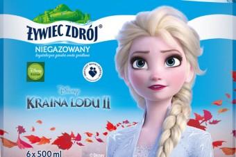 Elza, Anna i Olaf na etykietach Żywiec Zdrój